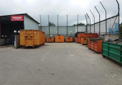 pszok w Chludowie - kontenery